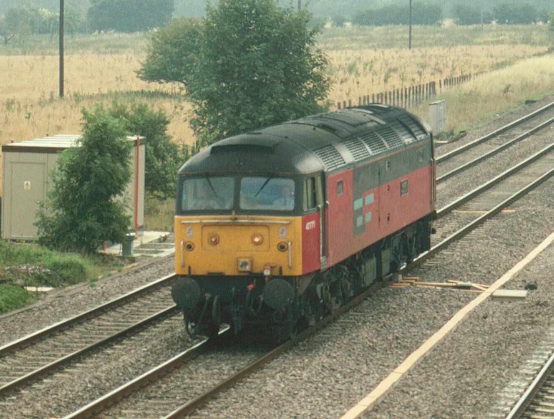 47771 Heaton Traincare Depot is passing Lower Basildon near Didcot on a light engine movement on 22nd July 1994. Photo: Richard Vitler