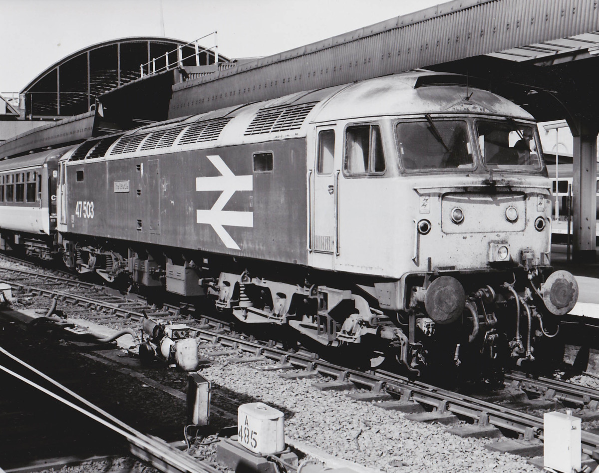 47503 The Geordie at Newcastle on 9th May 1989. Photo: Class 47 Preservation Project Archive.