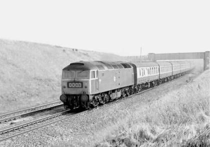 Above: 47503 passes Llandulas at the head of an unidentified passenger working on 21st August 1976. Photo: Class 47 Preservation Project Archive.